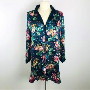 Victoria's Secret Floral S Sleep Shirt Dress